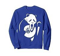 Panda Animal Halloween Diy Costume Funny Shirts Sweatshirt Royal Blue