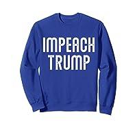 Impeach Trump Vintage T Shirt Sweatshirt Royal Blue