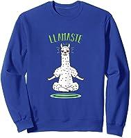 Da Ste - Namaste Yoga Meditation Hatha Xmas T-shirt Sweatshirt Royal Blue