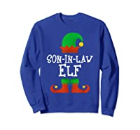 Son-in-law Elf Christmas Funny T-shirt Sweatshirt Royal Blue