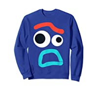 And Pixar Toy Story 4 Forky Timid Face Costume Shirts Sweatshirt Royal Blue