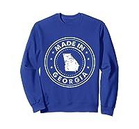 Made In Georgia Vintage State Pride Usa Shirts Sweatshirt Royal Blue