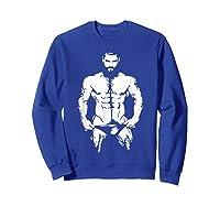 Bearded Hunk T-shirt - Gay Bear Interest Sweatshirt Royal Blue