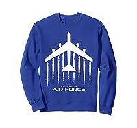 Air Force B 52 Bomber American Flag Veteran Shirts Sweatshirt Royal Blue