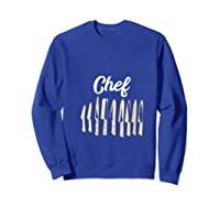 Chef Cooking Vintage Knives Funny Culinary Chefs Gifts T Shirt Sweatshirt Royal Blue