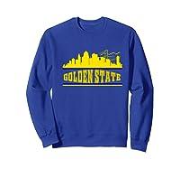 Golden State Distressed Basketball Team Fan Warrior Shirts Sweatshirt Royal Blue