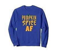 Pumpkin Spice Shirt Autumn Tshirt Fall T Shirts Halloween Premium T-shirt Sweatshirt Royal Blue