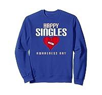 Broken Heart Band Aid Design Cute Printed Top Shirts Sweatshirt Royal Blue