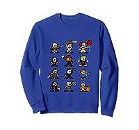Friends Pixel Halloween Icons Scary Horror Movies Tank Top Shirts Sweatshirt Royal Blue