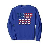 President Trump 2020 American Flag Usa Presidential Election T Shirt Sweatshirt Royal Blue