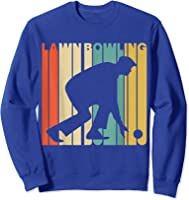 Vintage Style Lawn Bowling Silhouette T-shirt Sweatshirt Royal Blue