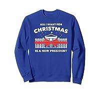 Resist And Impeach President For Christmas 2020 Anti Trump Premium T Shirt Sweatshirt Royal Blue
