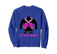 Husband Of A Warrior Breast Cancer Awareness Month Gift Tank Top Shirts Sweatshirt Royal Blue