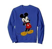 Disney Mickey Mouse Smile T Shirt Sweatshirt Royal Blue