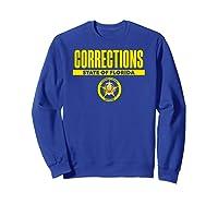 Florida Correctional Officer Thin Gray Line Flag Shirts Sweatshirt Royal Blue