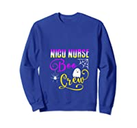 Nicu Nurse Boo Crew Halloween Ghost Spider Rn Group T-shirt Sweatshirt Royal Blue