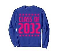Class Of 2032 Stars Grow With Me First Day Kindergarten Gift T-shirt Sweatshirt Royal Blue