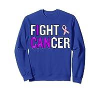 Breast Cancer Month Awareness Gift For Survivors Warriors T Shirt Sweatshirt Royal Blue
