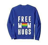 Lgbt X Pride - Cute Mother Distressed Lgbt Free Mom Hugs T-shirt Sweatshirt Royal Blue