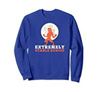 Resist Trump Impeach Protest Rally Extremely Stable Genius Premium T Shirt Sweatshirt Royal Blue