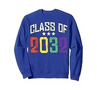 Class Of 2032 Color Stars Grow With Me Kindergarten Gift Shirts Sweatshirt Royal Blue