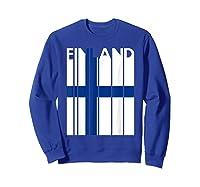 Finland Vintage Finland Flag Finnish Flag Shirts Sweatshirt Royal Blue