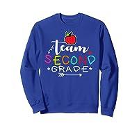 Team 2nd Second Grade Back To School Tea Gift Shirts Sweatshirt Royal Blue
