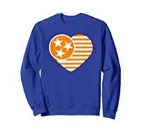 Tennessee Flag Shirt Vintage Distressed Usa Heart T Shirt Sweatshirt Royal Blue