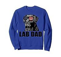 Chocolate Labrador Hashtag Lab Dad Tshirt Father Day Gifts Sweatshirt Royal Blue