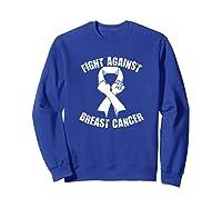 Breast Cancer Awareness Month T-shirt Sweatshirt Royal Blue
