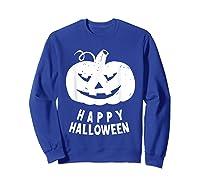Funny Happy Halloween Costumes Scary Spooky Pumpkin Costume Shirts Sweatshirt Royal Blue