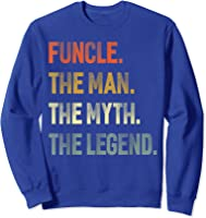 Funcle The Man The Myth The Legend Uncle Father Day Gift T-shirt Sweatshirt Royal Blue