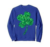 Shamrock Saint Patrick's Day Shirts Sweatshirt Royal Blue