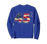 Donald Trump America Re Election T Shirt Gift Sweatshirt Royal Blue