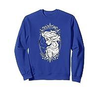 Frozen Elsa Sketch Portrait Snowflakes Shirts Sweatshirt Royal Blue