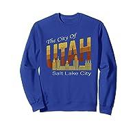 City Of Utah Shirt Salt Lake City Vintage State Gift T Shirt Sweatshirt Royal Blue