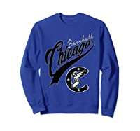 Chicago Baseball Shirts Sweatshirt Royal Blue