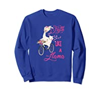 Floral Breast Cancer Awareness Month Figth Premium T Shirt Sweatshirt Royal Blue
