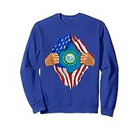 South Dakota Roots Inside State Flag American Proud Shirts Sweatshirt Royal Blue