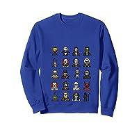 Friends Cartoon Halloween Character Scary Horror Movies T Shirt Sweatshirt Royal Blue