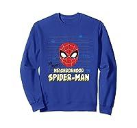 Spider Man Far From Home Friendly Neigrhood Shirts Sweatshirt Royal Blue