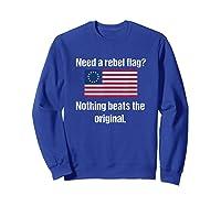 The Original Rebel Colonial Flag T Shirt Sweatshirt Royal Blue