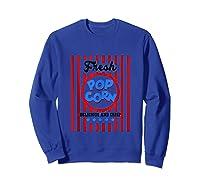 Fresh Popcorn T-shirt Popcorn Costume For Halloween Tank Top Sweatshirt Royal Blue