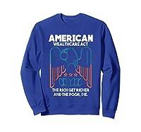 American Wealthcare Act Impeach Trump T Shirt Sweatshirt Royal Blue