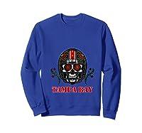 Tampa Bay Football Helmet Sugar Skull Day Of The Dead T Shirt Sweatshirt Royal Blue
