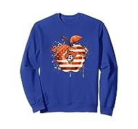 Oklahoma State Cow Nation Flag T Shirt Apparel Sweatshirt Royal Blue