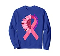 Sunflower Breast Cancer Awareness Month Gift T Shirt Sweatshirt Royal Blue