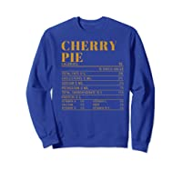 Ry Pie Nutrition Facts Gift Funny Thanksgiving Costume Shirts Sweatshirt Royal Blue