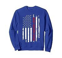 Best Grandma Ever T Shirt American Flag Mothers Day Gift Mom Sweatshirt Royal Blue