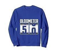 Oldometer 50 50th Birthday 50 Years Old Gifts Shirts Sweatshirt Royal Blue